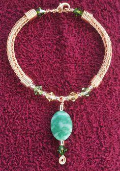 Copper Viking Knit Bracelet
