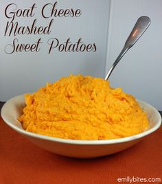 Emily Bites - Weight Watchers Friendly Recipes: Goat Cheese Mashed Sweet Potatoes