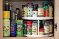 Organize Spices on a Lazy Susan **updated link