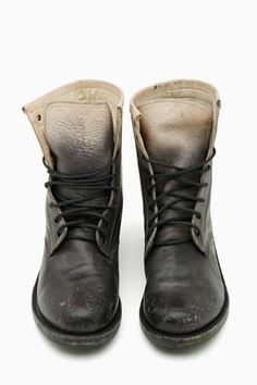 Twilight Ride Combat Boots by Freebird; Ombre, Lace-Up. #BadAss