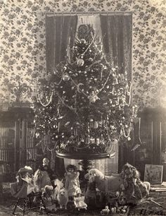 ★ President Cleveland was the first to have a tree illuminated by electricity in the White House. c. 1896