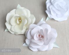 DIY:: Paper Roses For Beautiful Holiday Decor or Gift Wrap