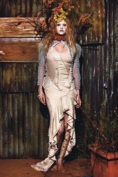 Lara Stone in 'Harvest' by Mario Sorrenti for W Magazine, April 2009.