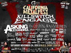 California Metal Music Festival 2012 at NOS Events Center in San Bernardino, California
