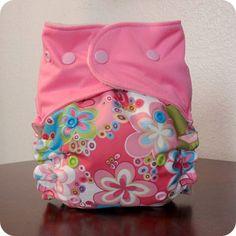TrimFit OS Pocket Diaper - Pink Flowers
