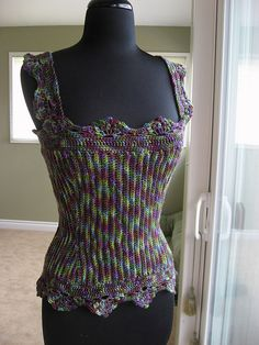 Crochet corset by MissMarnie, via Flickr