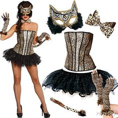 Be wild! Corset and tutu + leopard accessories = fierce wildcat, fresh off the jungle catwalk. Follow Party City for more hot costume ideas!  <3 #BeACharacter
