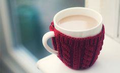 winter accessories, sweater, chocolates, hot chocolate, drink, coffee cups, cup of coffee, tea cosies, coffee cozy