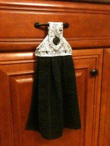 DIY hanging kitchen towel - instructions