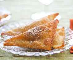 Sweet Wontons. Excellent Chinese appetizer. A great dipper for fruit salsa!