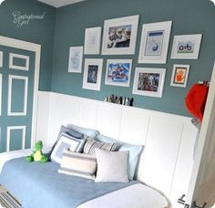 gallery wall for boys room