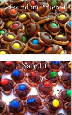 25. Pretzel Chocolate M Things | 31 Horrendous Pinterest Fail Monstrosities