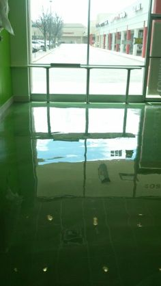 Green Metallic Epoxy Flooring - Lacey NJ