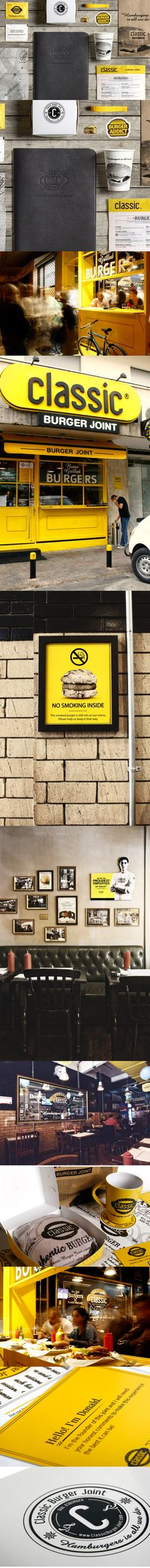 Classic Burger brand   Designer: Wonder Eight   #stationary #corporate #design #corporatedesign #logo #identity #branding #marketing <<< repinned by an #advertising agency from #Hamburg / #Germany - www.BlickeDeeler.de   Follow us on www.facebook.com/BlickeDeeler