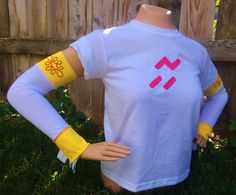 Jessie Toy Story Inspired Disney race running arm sleeves costume Yee-Haaw! on Etsy, $30.00