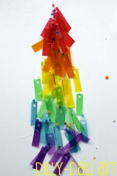 Dilly-Dali Art   Gelatin Plastic Rainbows {Two Ways}
