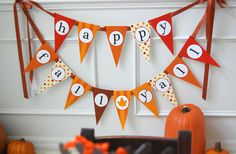 happy fall yall banner on http://frogprincepaperie.com