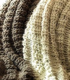 Copycat Pottery Barn Wesley Throws Knitted Pattern!     Why pay 129 dollars when you can DIY?