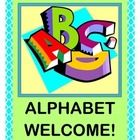 "Welcome your group with an ALPHABET POEM that uses each letter to tell your kids about the fun they will have in YOUR CLASS!  Friendship Time, Reading Time, Math Time -- all are highlighted in the ALPHABET WELCOME!  ""A is for ALL the kids that are here!  B is for the BOYS that are standing near!""  The funny rhymes continue all the way to letter Z!  Use the 26 LETTER  and WORD/PICTURE CARDS to illustrate each Letter Rhyme.  Start your day with ACTION!  (12 pgs.)  Joyful Noises Express TpT!  $"