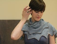 Furrows Shawl: The pointed edging creates a nice drape over the shoulders.