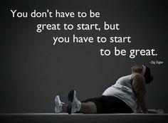 so just start. #weightloss
