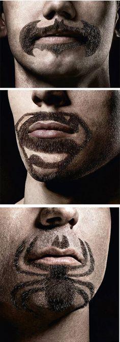 Superhero Facial Hair