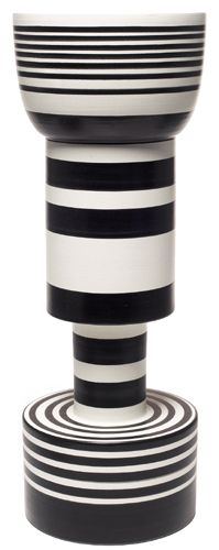 Ettore Sottsass Jr. ceramic vase, from the Hollywood series, later production of a 1958 design, manufactured by Bitossi