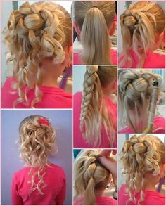 Cute flower girl hair