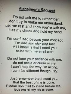 Alzheimer's Request.