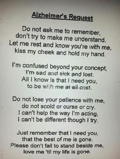 Alzheimer's Request.