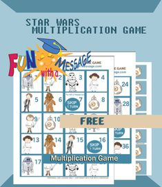 A fun and fast paced math game inspired by Star Wars characters. Freebie printable - instant download. Just print and play!