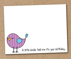 Bird Note Cards Stationery Birthday Cards