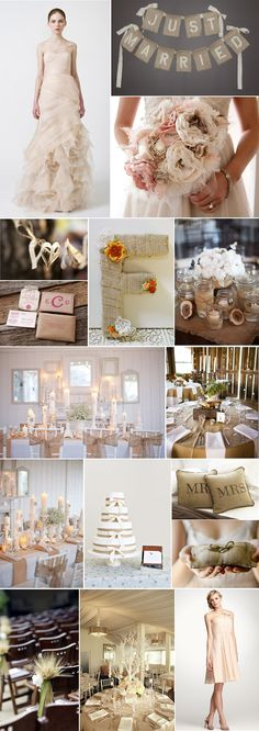 Burlap chic wedding