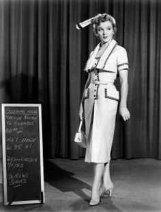 """This tailored sportswear from """"We're Not Married"""" is a prime example of a studio costume by Elois Jenssen that Marilyn requisitioned for her personal wardrobe."""