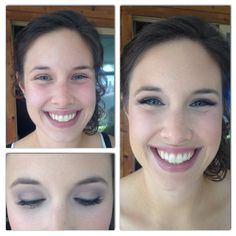 Before and after of bride, Hannah