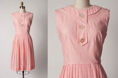 1950s Dress // 50s Vintage Dress // Pink by vintagesalvation, $65.00