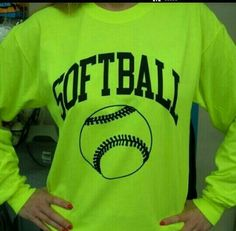 I want a long sleeve softball shirt...