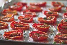 Roasted Plum Tomatoes with fresh garden herbs and Meyer lemon salt | Kitchen Apparel
