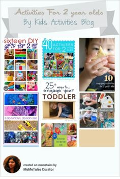 HUGE round-up of ideas for 2 year olds craft kids, kid activities, activities for kids, activ blog, 2 year olds, play ideas, 3 year olds, 1 year olds, preschool science