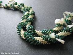 shell chip, dutch spiral, chips, bead pattern, spirals, bead spiral, beading tutorials, spiral rope, jewelri
