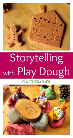 Great ideas for storytelling with play dough