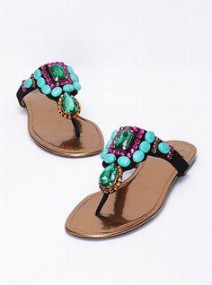 Colin Stuart  Stone Embellished Sandal   (LOVE)