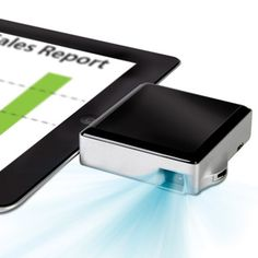 The iPad Pocket Projector - Hammacher Schlemmer