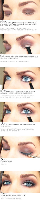 brown smoky eyeshadow