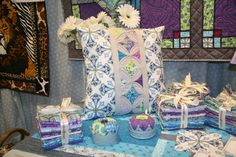 Kingdom Pillow, Pincushion and Fat Quarters by Jessica Levitt from Windham Fabrics
