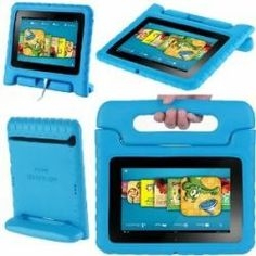 Kindle Fire HD 7 Cases for Kids with handle that doubles as a stand. In Pink, Green and Black as well.