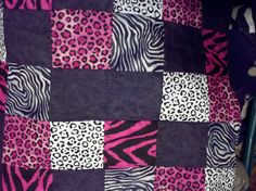 Black and pink leopard and zebra blanket... I need this!