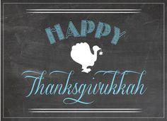 chalkboard thanksgivukkah sign