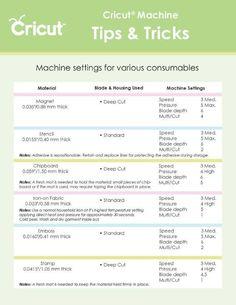 Cricut tips