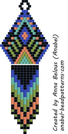 scheme beads beading earrings mosaic brick weave